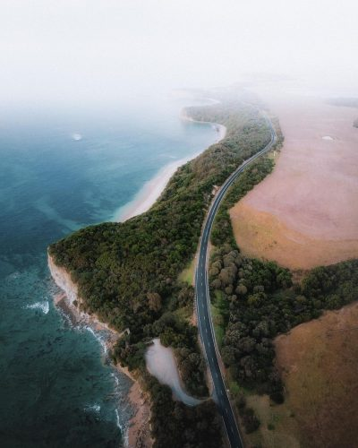 On your Melbourne to Sydney road trip, take the Bunurong Coastal Drive towards Wilsons Promontory.