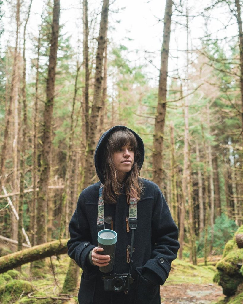 girl, forest