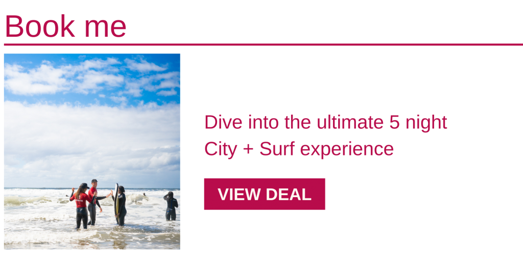 Want a bit of Sydney, and a bit of surfing lessons on the NSW South Coast? You've got it! Dive into this value-packed package, and experience it all.