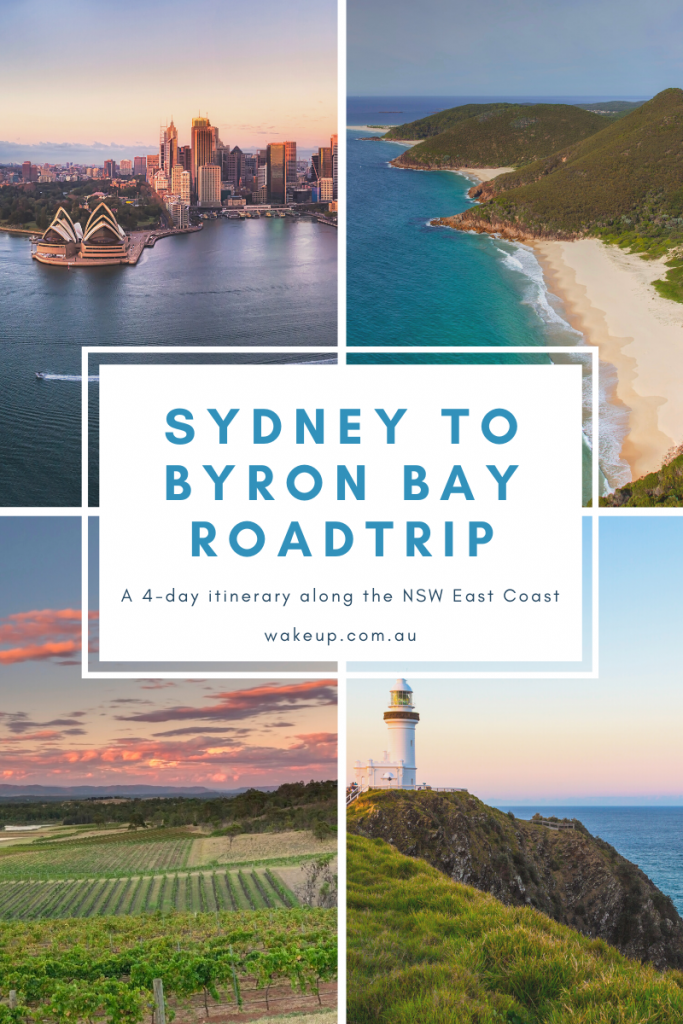 Sydney to Byron Bay roadtrip itinerary.