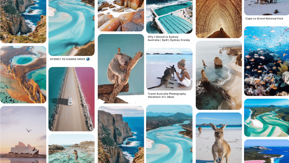 Pinterest Travel Boards